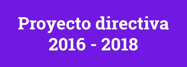Proyecto directiva 2016 - 2018